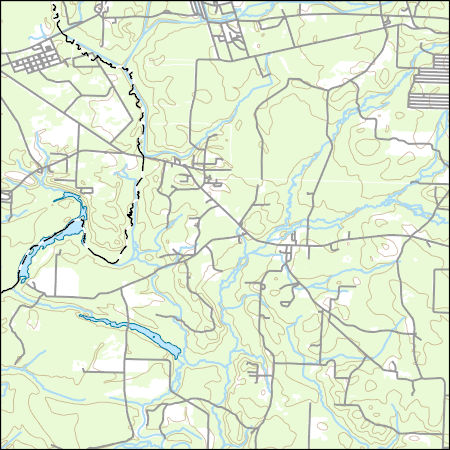 USGS Topo Map Vector Data (Vector) 13346 East Camden, Arkansas ...