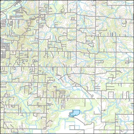 USGS Topo Map Vector Data (Vector) 32727 Oak Grove, Arkansas ...