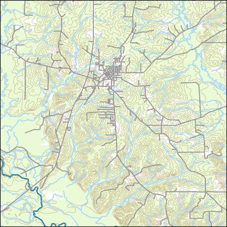 USGS Topo Map Vector Data (Vector) 38013 Rison, Arkansas ...