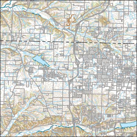 USGS Topo Map Vector Data (Vector) 42661 Springdale, Arkansas ...