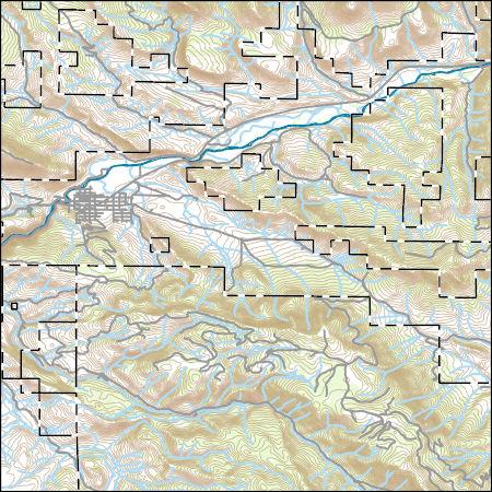 Hot Sulphur Springs Colorado Map.Usgs Combined Vector For Hot Sulphur Springs Colorado 20160902 7 5