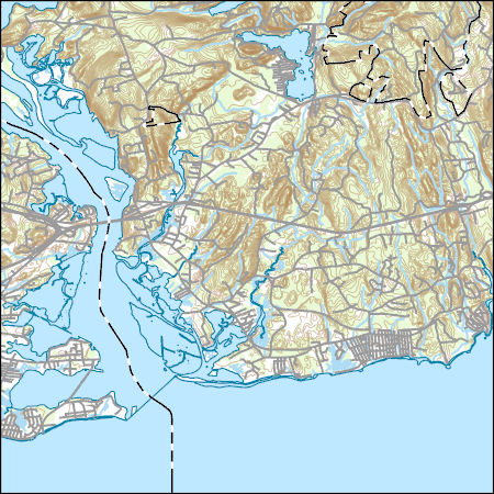 Topographic Map Ct.Usgs Topo Map Vector Data Vector 33092 Old Lyme Connecticut
