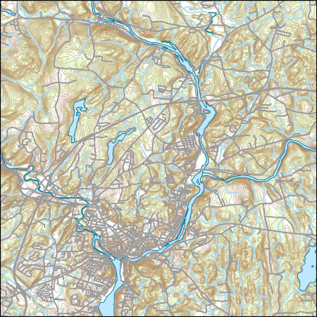 USGS Topo Map Vector Data (Vector) 32602 Norwich, Connecticut ...