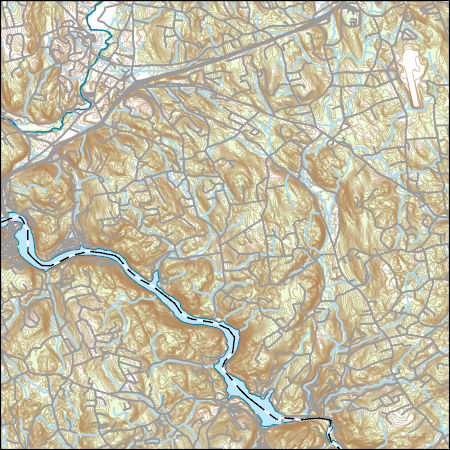 Topographic Map Ct.Usgs Topo Map Vector Data Vector 42318 Southbury Connecticut