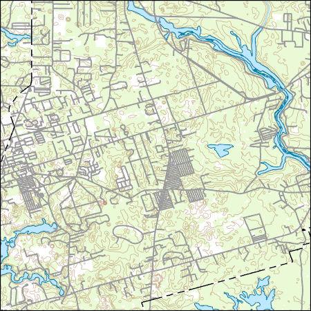 Map Of East Florida.Usgs Topo Map Vector Data Vector 10635 Crawfordville East Florida