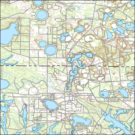 Crystal Lake Florida Map.Usgs Topo Map Vector Data Vector 10934 Crystal Lake Florida