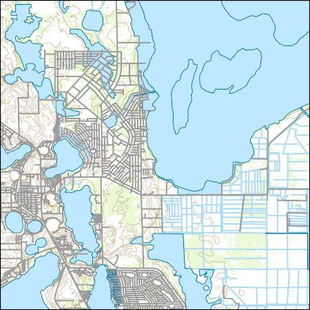 Lake Placid Florida Map.Usgs Topo Map Vector Data Vector 24616 Lake Placid Florida