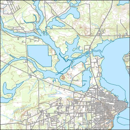 Palatka Florida Map.Usgs Topo Map Vector Data Vector 33960 Palatka Florida 20180626