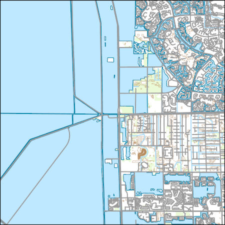 USGS Topo Map Vector Data (Vector) 9991 Cooper City SW, Florida