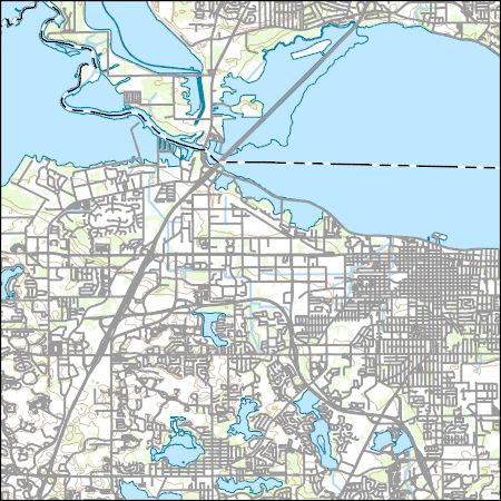 Sanford Florida Map.Usgs Topo Map Vector Data Vector 39855 Sanford Florida 20180626