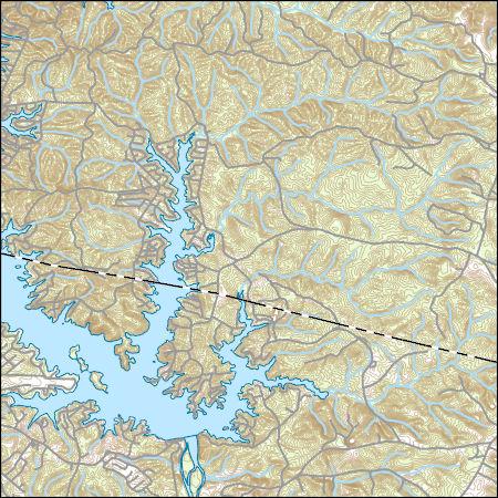 Map Of East Georgia.Usgs Topo Map Vector Data Vector 24656 Lake Sinclair East Georgia