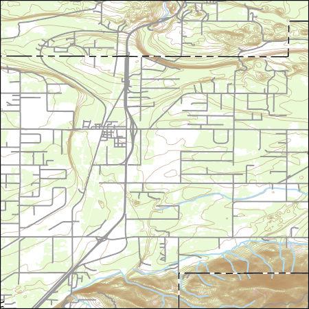 Usgs Topo Map Vector Data Vector 1757 Athol Idaho 20170709 For