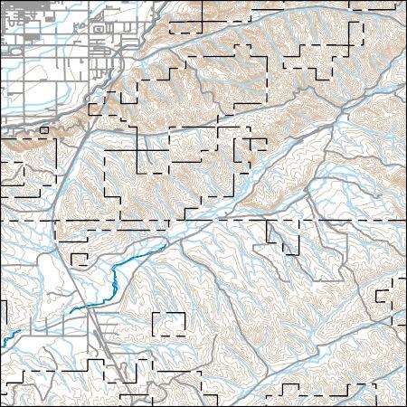 Usgs Topo Map Vector Data Vector 42323 Southeast Emmett Idaho