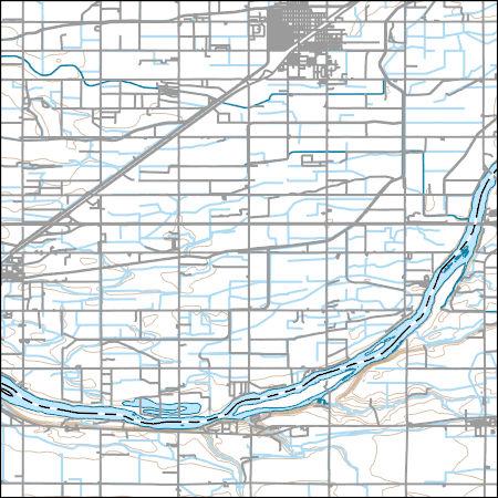 USGS Topo Map Vector Data (Vector) 38937 Rupert, Idaho ...