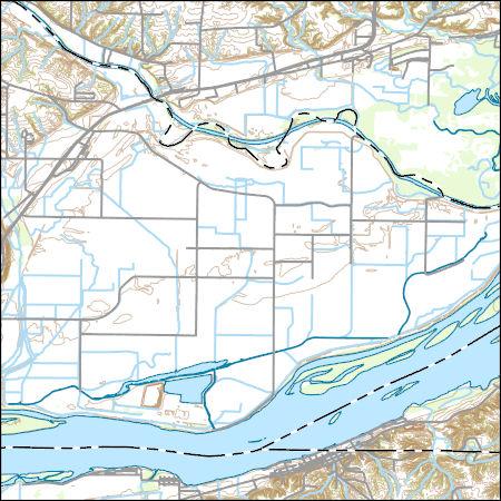 Usgs Topo Map Vector Data Vector 11237 Dallas City Illinois