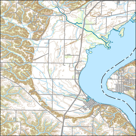 Usgs Topo Map Vector Data Vector 31415 Nauvoo Illinois 20180625