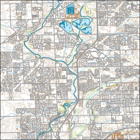Usgs Topo Map Vector Data Vector 35529 Plainfield Illinois