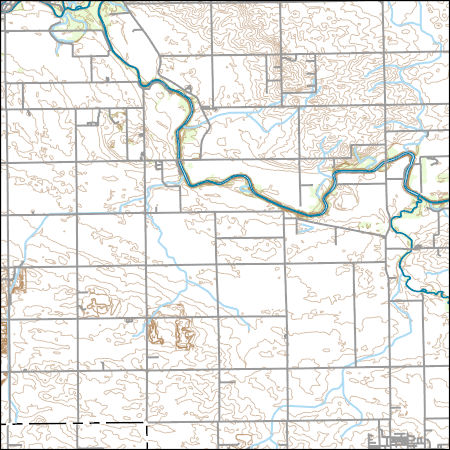 Usgs Topo Map Vector Data Vector 42335 Southeast Pontiac Illinois