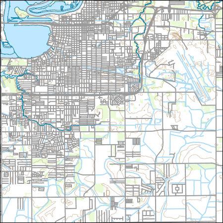 Usgs Topo Map Vector Data Vector 24373 Lake Charles Louisiana