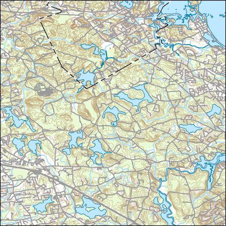 Topographic Map Massachusetts.Usgs Topo Map Vector Data Vector 9471 Cohasset Massachusetts