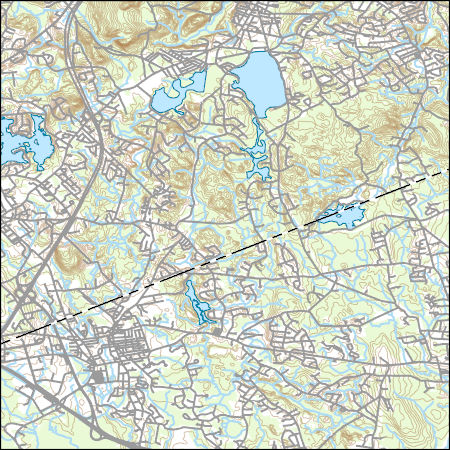 Topographic Map Massachusetts.Usgs Topo Map Vector Data Vector 27536 Mansfield Massachusetts