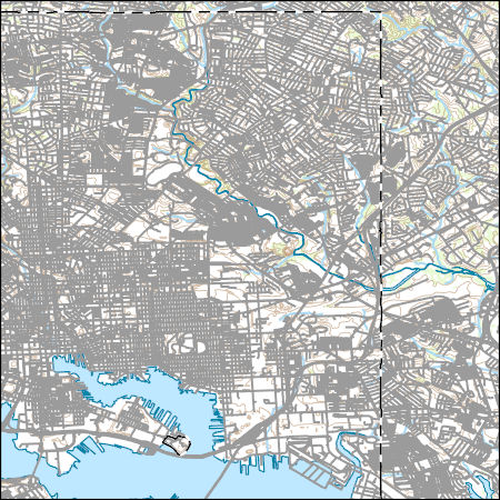 Usgs Topo Map Vector Data Vector 2293 Baltimore East Maryland