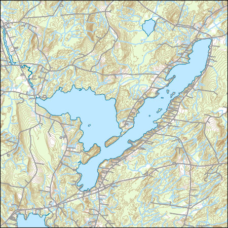 China Lake Maine Map.Usgs Topo Map Vector Data Vector 8583 China Lake Maine 20180717