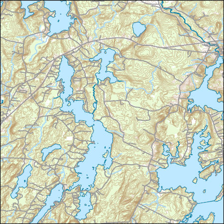 Topo Map Of Maine.Usgs Topo Map Vector Data Vector 47233 Waldoboro West Maine