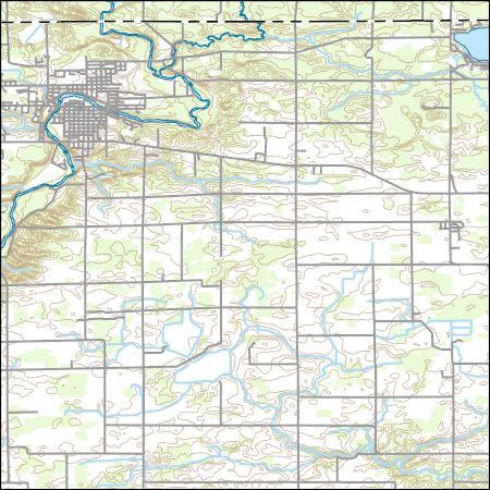 Usgs Topo Map Vector Data Vector 3096 Belding Michigan 20170329