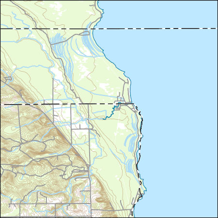 Usgs Topo Map Vector Data Vector 4179 Black River Michigan