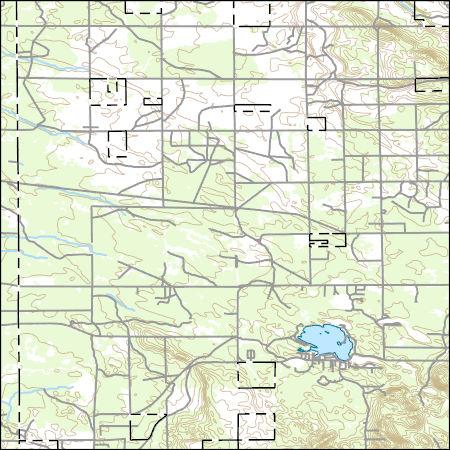 Usgs Topo Map Vector Data Vector 39279 Saint Helen Ne Michigan