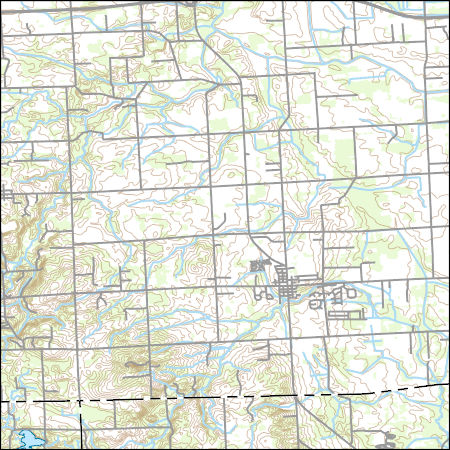 Usgs Topo Map Vector Data Vector 677 Almont Michigan 20170329 For