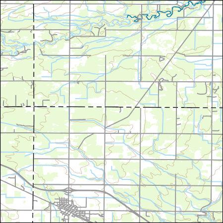 Coleman Michigan Map.Usgs Topo Map Vector Data Vector 9536 Coleman Michigan 20170313