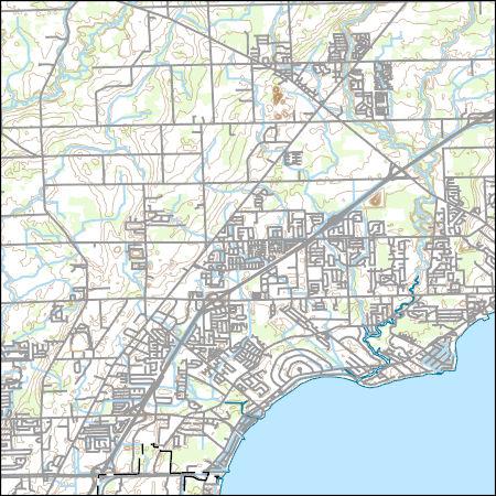 Usgs Topo Map Vector Data Vector 31739 New Haven Michigan
