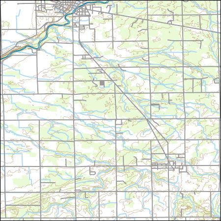 Usgs Topo Map Vector Data Vector 46689 Vassar Michigan 20170314