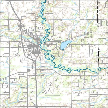 Princeton Minnesota Map.Usgs Combined Vector For Princeton Minnesota 20160528 7 5 X 7 5