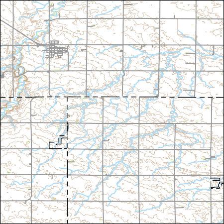 Usgs Combined Vector For Walnut Grove Minnesota 20160528 7 5 X 7 5