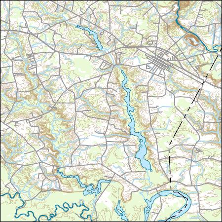 Princeton Nc Map.Usgs Combined Vector For Princeton North Carolina 20160711 7 5 X