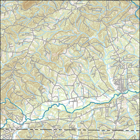 Walnut Cove Nc Map.Usgs Combined Vector For Walnut Cove North Carolina 20160707 7 5 X