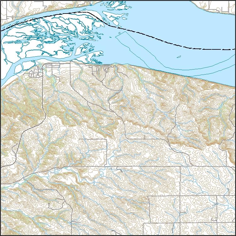 USGS Topo Map Vector Data (Vector) 39935 Santee, Nebraska 20180209 ...