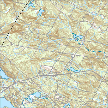 USGS Topo Map Vector Data (Vector) 69538 Candia, New Hampshire ... Candia Nh Map on