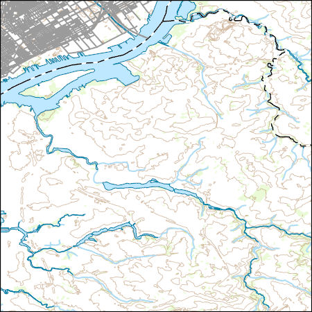 USGS Topo Map Vector Data (Vector) 6850 Camden, New Jersey 20170223 Camden Nj Map on