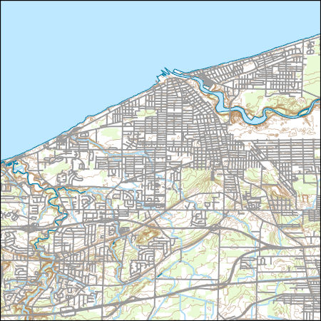 Usgs Topo Map Vector Data Vector 26584 Lorain Ohio 20170309 For