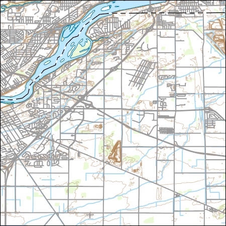 Rossford Ohio Map.Usgs Topo Map Vector Data Vector 38674 Rossford Ohio 20170228 For