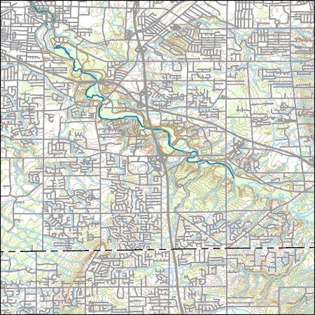 Usgs Topo Map Vector Data Vector 3411 Berea Ohio 20170309 For 7 5