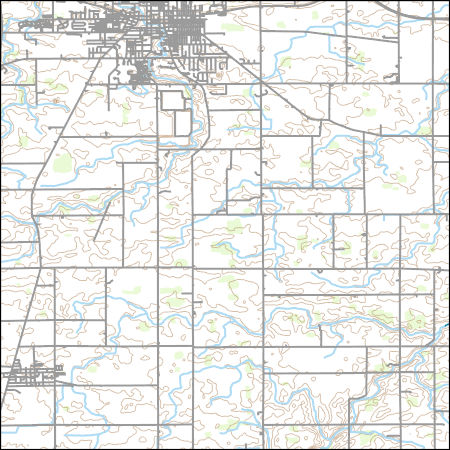 Usgs Topo Map Vector Data Vector 46633 Van Wert Ohio 20170227 For