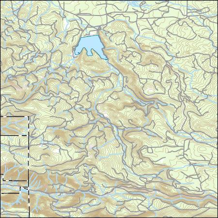 USGS Topo Map Vector Data (Vector) 49252 Willow Lake, Oregon
