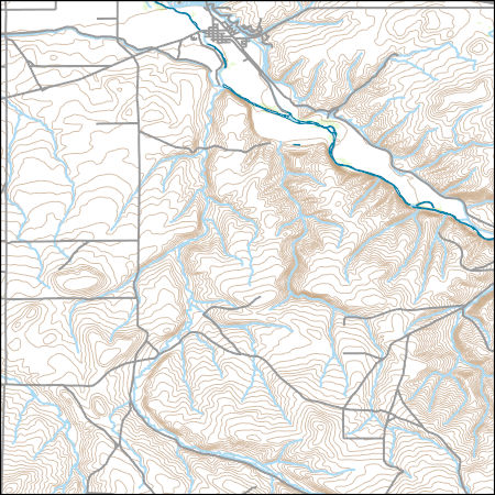 Usgs Topo Map Vector Data Vector 13566 Echo Oregon 20170626 For