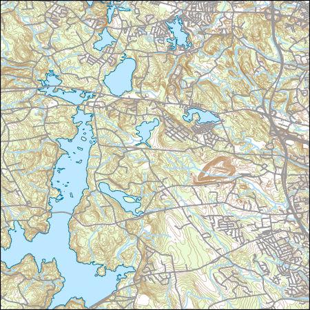 Topographic Map Rhode Island.Usgs Topo Map Vector Data Vector 32464 North Scituate Rhode
