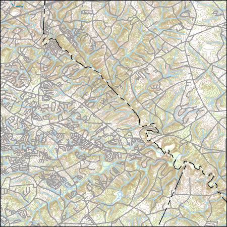 USGS Topo Map Vector Data (Vector) 71202 Pelham, South